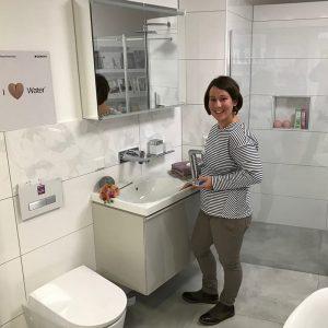 Melanie Steffens in der Badausstellung